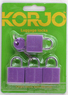 Korjo 4-pack colourful locks LLC40 PURPLE