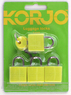 Korjo 4-pack colourful locks LLC40 YELLOW