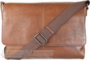Things Terrific Leather messenger bag FELIX Rich Tan