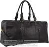 Pierre Cardin Leather overnight duffle 3139 BLACK