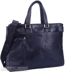 Pierre Cardin Leather briefcase PC3220 MIDNIGHT NAVY