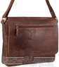 Pierre Cardin Leather messenger bag PC3136 CHOCOLATE