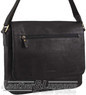 Pierre Cardin Leather messenger bag PC3136 BLACK