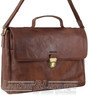 Pierre Cardin Leather briefcase PC3132 CHOCOLATE