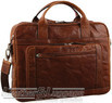 Pierre Cardin Leather briefcase PC2797 CHESTNUT