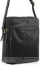 Pierre Cardin Leather shoulder bag PC2804 BLACK