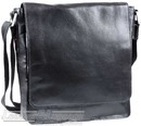 Hidesign leather shoulder bag FM-001 FRED BLACK