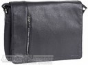 Pierre Cardin leather messenger  PC10615 BLACK