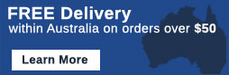 Free Delivery within Australia on orders over $50